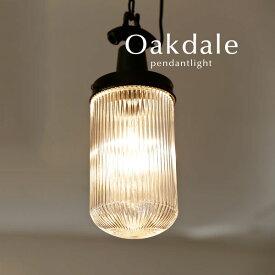 ペンダントライト LED【Oakdale/クリア】1灯 キッチン ダイニング 店舗 工場 ガラス 照明 レトロ ヴィンテージ