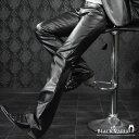 パンツ PU フェイクレザー 合皮 革 ブーツカット パンツ メンズ(ブラック黒) 923892 0601楽天カード分割