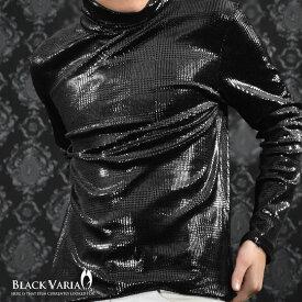 タートル グレンチェック 千鳥柄 ベロア 長袖 タートルネック Tシャツ メンズ mens(ブラック黒) 163205