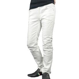 【Sale】VIOLA rumore ヴィオラ ビオラ デニム 迷彩ジャガードポケット メンズ ストレッチ ロングパンツ ボトム mens(ホワイト白) 81141