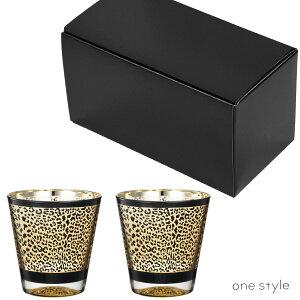 ペアグラスヒョウ柄豹ギフトお祝い箱入りグラスコッププレゼント