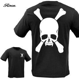 Roen ロエン Tシャツ スカル メンズ クルーネック 半袖T(ブラック黒) 59147001