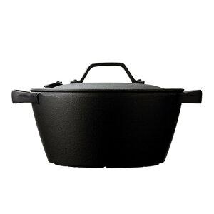 及源鋳造 南部鉄器 薪ストーブ 200VIH対応 鋳物鍋 クックトップ 丸 深型 中(20cm) (OIGEN)