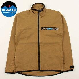 カブー 10oz F/Z スローシャツ カーキ S (KAVU)