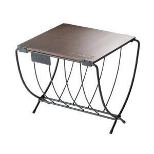 (LOGOS)ロゴス ワイド薪ラックウッドテーブル