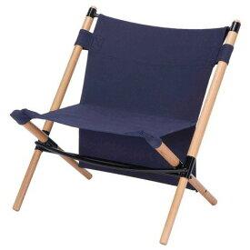 ハングアウト ポールローチェア ネイビー (HANGOUT)   ローチェア 折りたたみ コンパクト 収納 椅子 イス チェア フェス キャンプ アウトドア BBQ バーベキュー おしゃれ