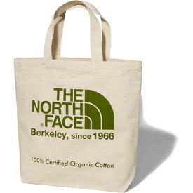 ザ・ノース・フェイス(THE NORTH FACE) TNFオーガニックコットントート (GG)ナチュラル×ガーデングリーン