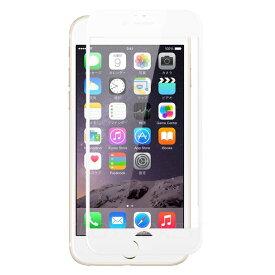 クロスフォレスト iPhone6 / iPhone6s用 液晶保護 ガラスフィルム フルカバー(全面)タイプ ホワイト