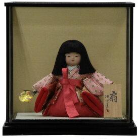 童人形 ケース入り稚児人形 扇8号 幅39cm 3mk64 蓬生作 雛祭り