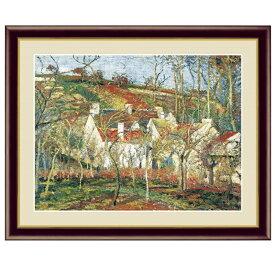 世界の名画 カミーユ・ピサロ 赤い屋根、冬の効果 F6 [g4-bm194-F6] インテリア