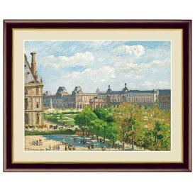 世界の名画 カミーユ・ピサロ カルーゼル広場、パリ F6 [g4-bm195-F6] インテリア