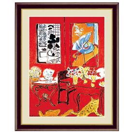 世界の名画 アンリ・マティス 大きな赤い室内 F6 [g4-bm199-F6] インテリア