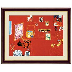 世界の名画 アンリ・マティス 赤いアトリエ F6 [g4-bm203-F6] インテリア