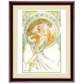 世界の名画 アルフォンス・ミュシャ 芸術:詩 F6 [g4-bm209-F6] インテリア