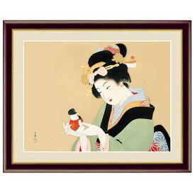 日本の名画 上村松園 御所人形(ごしょにんぎょう) F6 [g4-bn005-F6] インテリア