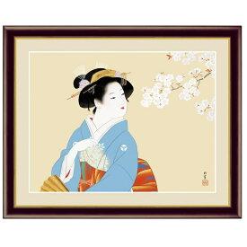 日本の名画 上村松園 花下美人(かかびじん) F6 [g4-bn036-F6] インテリア
