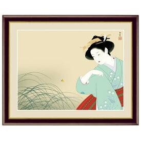 日本の名画 上村松園 新螢(にいぼたる) F6 [g4-bn037-F6] インテリア