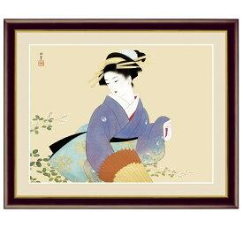 日本の名画 上村松園 萩の露(はぎのつゆ) F6 [g4-bn038-F6] インテリア