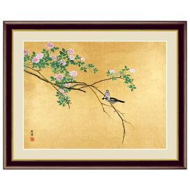 日本の名画 円山応挙 薔薇文鳥(ばらぶんちょう) F6 [g4-bn143-F6] インテリア