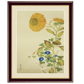 日本の名画 酒井抱一 向日葵、朝顔、藤袴、蟷螂(ひまわり、あさがお、ふじばかま、かまきり) F6 [g4-bn149-F6] インテリア