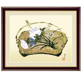 日本の名画 冨田溪仙 春の花籠図(はるのはなかごず) F6 [g4-bn164-F6] インテリア