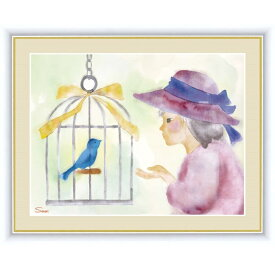 インテリアアート 榎本 早織(えのもと さおり) 少女と青い鳥 F6 [g4-ch007-F6] インテリア