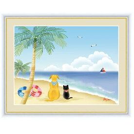 インテリアアート 喜多 一(きた はじめ) 憩いの海辺 F6 [g4-cp011-F6] インテリア