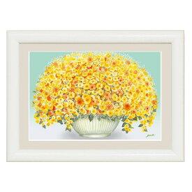 額絵 しあわせをまねく絵 幸せのブーケ 輝く黄色のブーケ 千采加 洋美[特小] [G4-AB031-ss]【代引き不可】