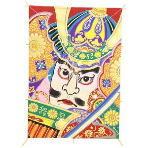 インテリア 手描き【和凧】角小凧 縦45×横30cm【ワ-7ツ】武者絵 お正月飾り