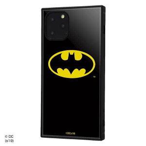 iPhone 11Pro 耐衝撃ケース バットマン ロゴ ハイブリッドカバー KAKU スクエア 四角 キャラ おしゃれ カッコイイ イングレム IQ-WP23K3TB-BM001