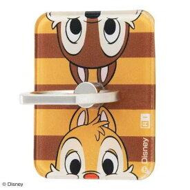 スマホリング ディズニー チップ&デール バンカー ホールド スマートフォン 落下防止 角度 スタンド おしゃれ 可愛い イングレム IJ-DABKR-CD001
