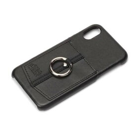 iPhone X ケース スターウォーズ ロゴ/ブラック ハードカバー ポケット スマホリング 落下防止 カードポケット おしゃれ シンプル キャラ PGA