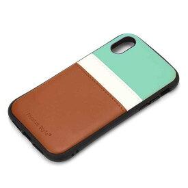 iPhone XR ケース チョコミント カバー タフポケットケース PUレザー カードポケット シンプル おしゃれ PGA