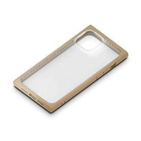 iPhone 12mini ケース ベージュ ガラスタフケース カバー スクエア 四角 カスタマイズ シンプル おしゃれ PGA