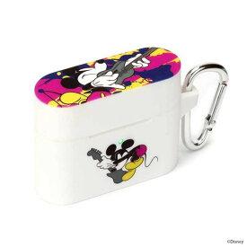 AirPods Pro ケース ディズニー ミッキーマウス/ホワイト シリコン ソフト カバー さらさら 可愛い かわいい オシャレ おしゃれ キャラ PGA