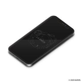 iPhone 12mini 液晶画面保護ガラスフィルム MARVEL ジャービス ディスプレイ 硬度9H 強化ガラス 耐衝撃 クリア おしゃれ オシャレ カッコイイ キャラ
