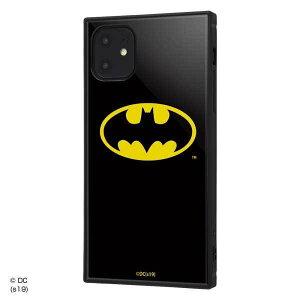 iPhone 11 耐衝撃ケース バットマン ロゴ ハイブリッドカバー KAKU スクエア 四角 キャラ おしゃれ カッコイイ イングレム IQ-WP21K3TB-BM001