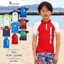 【訳あり】ラッシュガード キッズ 半袖【PIKO】【Theme Park】【T&C Surf Designs】子供用 男の子 男児 水着 UVブロッ…
