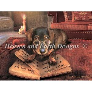 クロスステッチ キット 上級者 全面刺し犬 Heaven And Earth Designs(HAED)-Mini the Book of Dog Talk