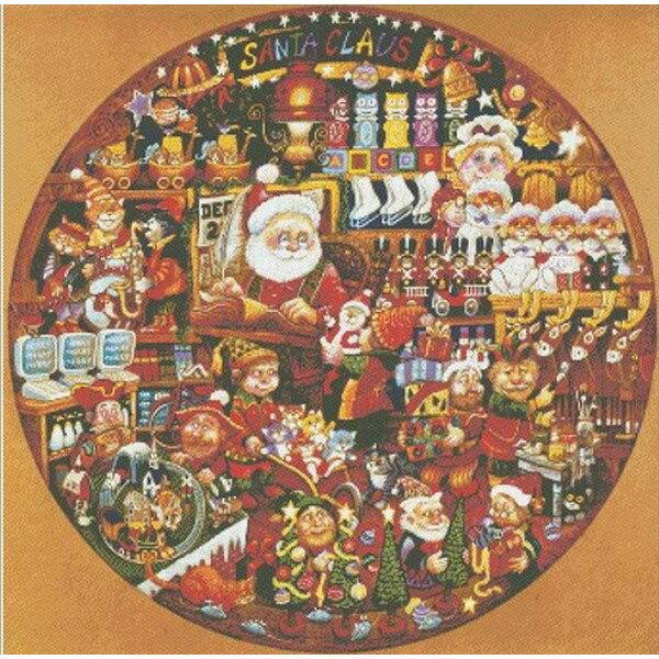 クロスステッチ刺繍キット Mystic Stitch-Santa Claws Workshop II 25ctサンタクロース クリスマス