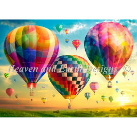 Hot Air Balloon Sunrise Max Color-HAED(Heaven and Earth Designs)-ロスステッチ キット