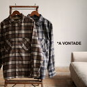 アボンタージ A VONTADE クレイジーチェック オープン シャツ Crazy Check Open Shirts L S ネルチェック ボックスシ…