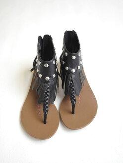 dolce vita 甜蜜生活冒险 / 脚踝袖口条纹 & 铆钉的凉鞋-6091-123