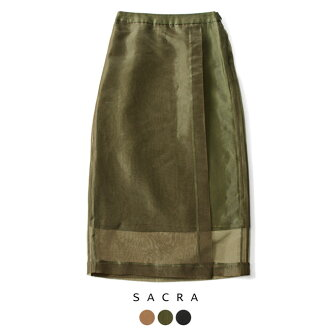 SACRA cherry tree organdy wrap skirt .118613121 #1009 in the fall and winter latest 2018