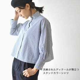 2019春夏新作SETTOセットOKKAKESHIRTオッカケシャツスタンドカラークラシックシャツ・STL-SH006【送料無料】