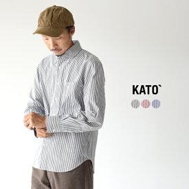 カトー/KATO` レギュラーカラー ボタンダウン ピンストライプ シャツ 長袖 メンズ 2019秋冬 トップス KS930151 【送料無料】