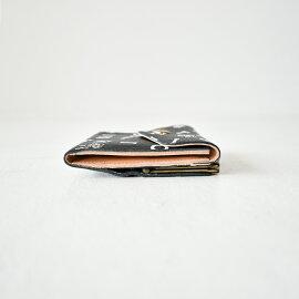 イルビゾンテ/ILBISONTE日本限定モノグラムスクエア型スナップボタンがま口2つ折りウォレットコンパクト財布ミニレディース2019秋冬財布54192-3-12240【送料無料】