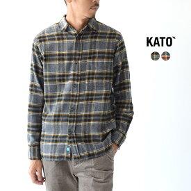 カトー/KATO` レギュラーカラー フランネル シャツ 長袖 メンズ 2019秋冬 トップス BS932093 【送料無料】 1001