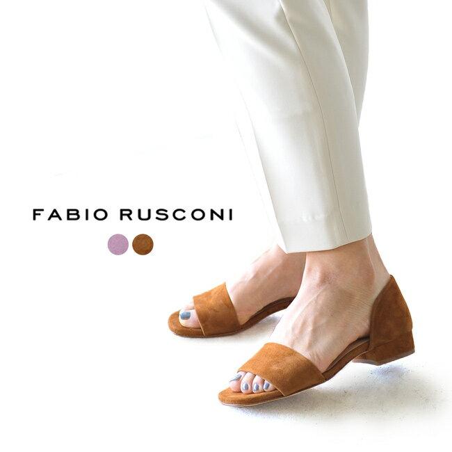 2019春夏新作 FABIO RUSCONI ファビオルスコーニ オープントゥ ローヒール サンダル ・S-4806 【送料無料】 #0211