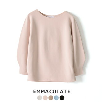 #0220 in the spring and summer latest エマキュレイト Emmaculate boat neck dolman sleeve pullover knit, 2191K-54551 2019